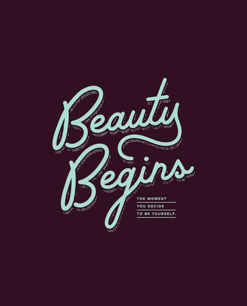 Beauty Begins Fitted Tee