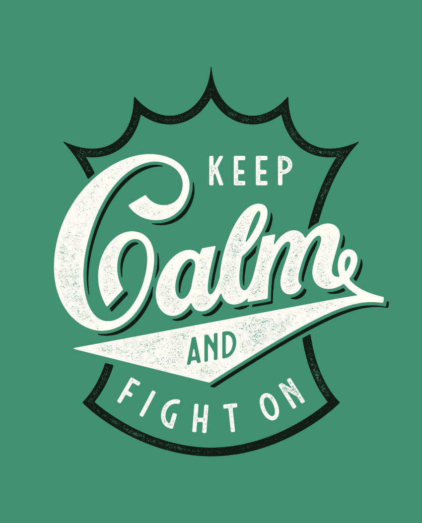 Keep Calm Fight On Fitted Tee