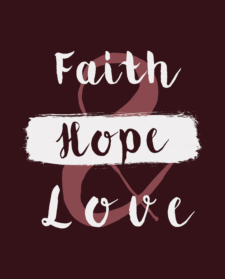 Faith Hope and Love Flowy Racerback Tank