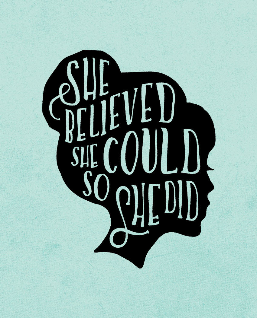 She Believed Triblend Short Sleeve Tee