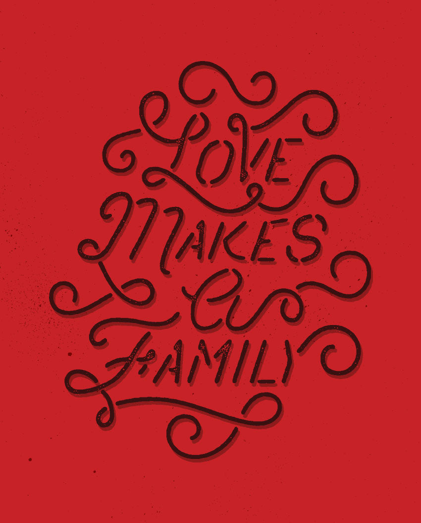 Love Makes A Family Flowy Racerback Tank