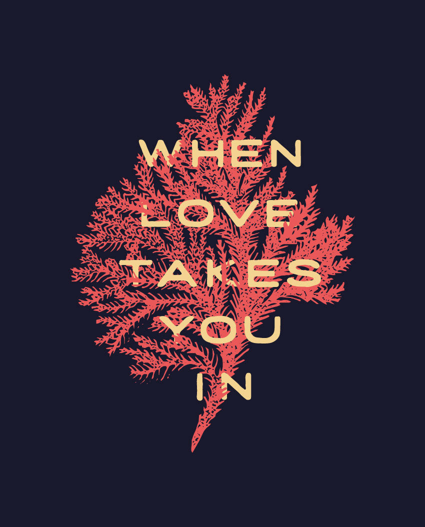 When Love Takes You In Triblend Racerback Tank