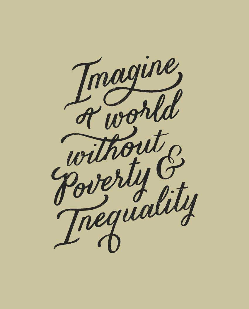 A World Without Poverty Unisex Baseball Tee