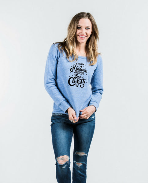 Throw Kindness Slouchy Sweatshirt