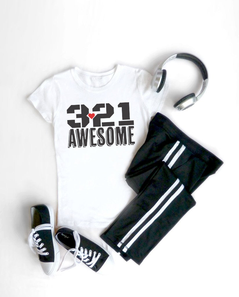 3.21 AWESOME Girls White Tee