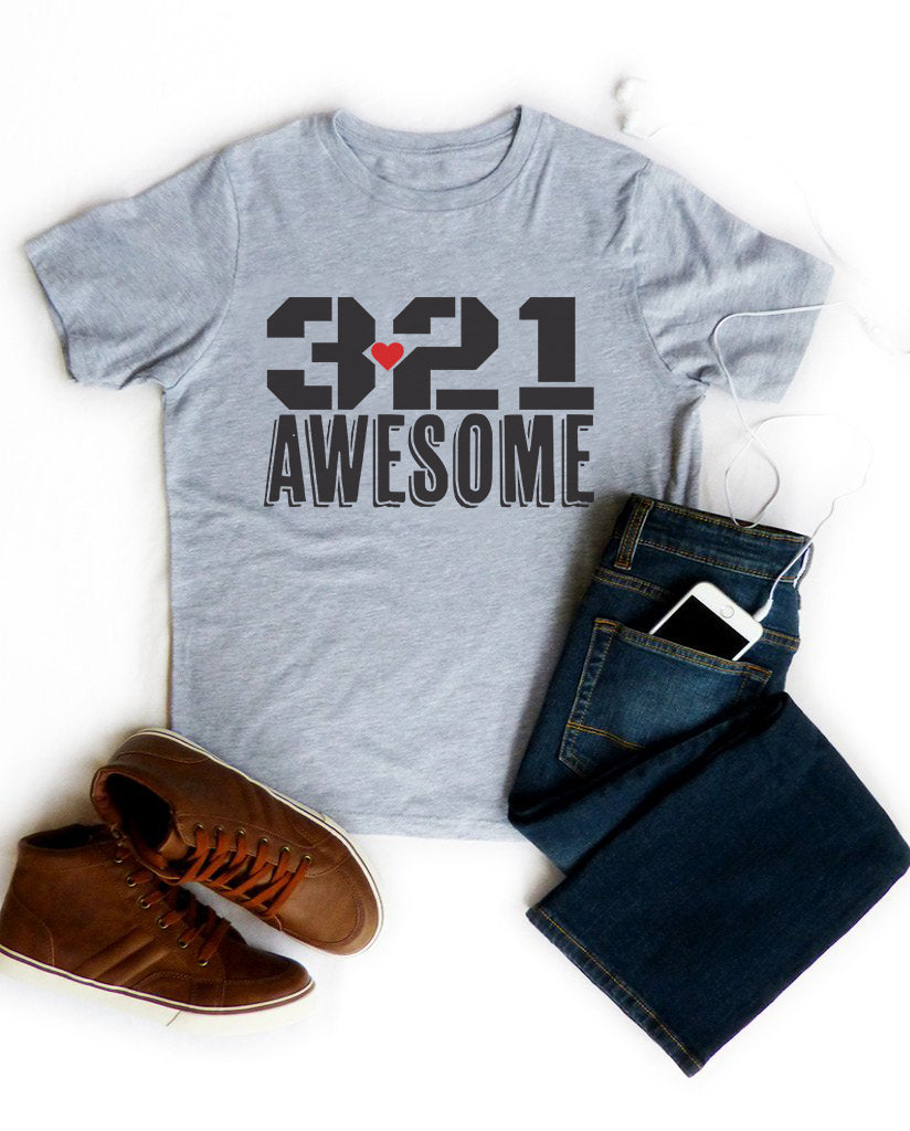 3.21 Awesome Boys Grey Tee