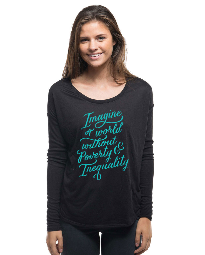 A World Without Poverty Flowy Long Sleeve Tee