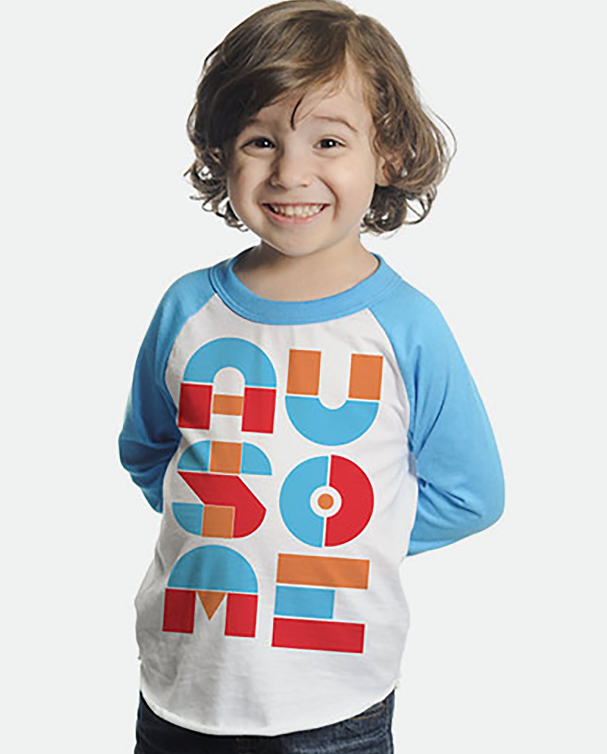 Ausome Kids & Baby 3/4 Sleeve Baseball Tee