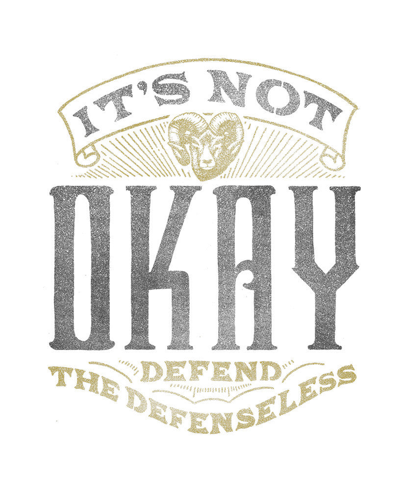 Defend The Defenseless Unisex Triblend Short Sleeve Tee