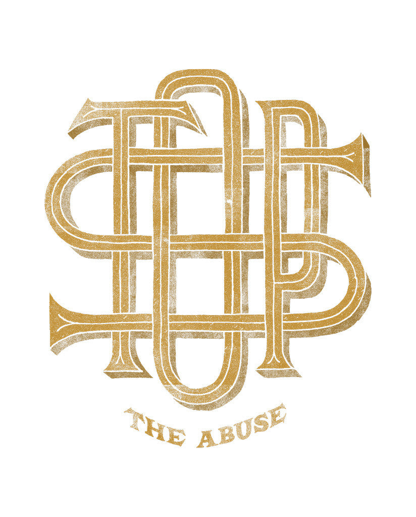 STOP The Abuse Mens Premium Fitted Tee