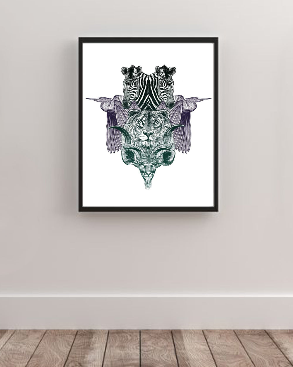 Africa Animals Art Poster