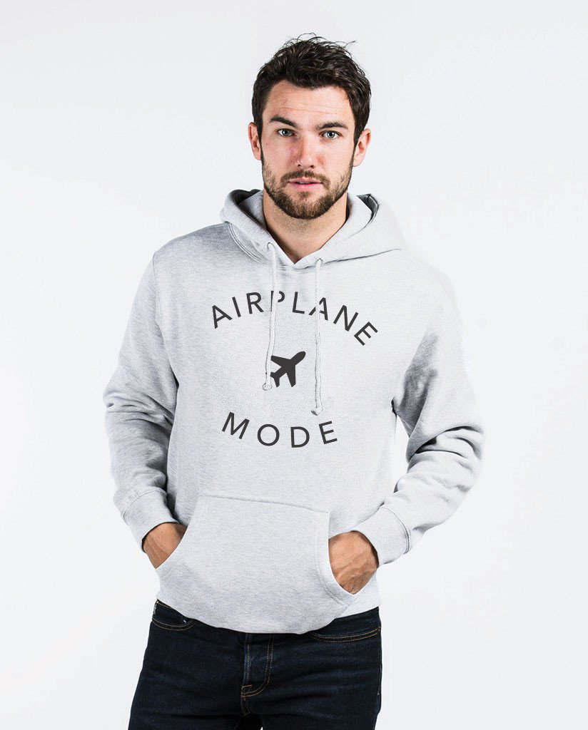 AIRPLANE MODE - Men's Pull Over Hoodie by Tech Wellness