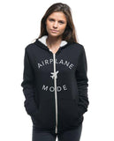 AIRPLANE MODE - Women's Sherpa Lined Full Zip Hoodie