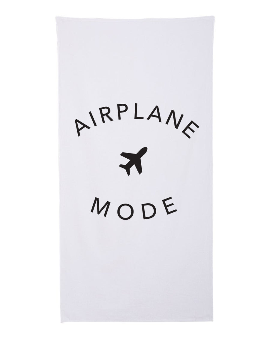 Airplane Mode Premium Cotton Velour Beach Towel