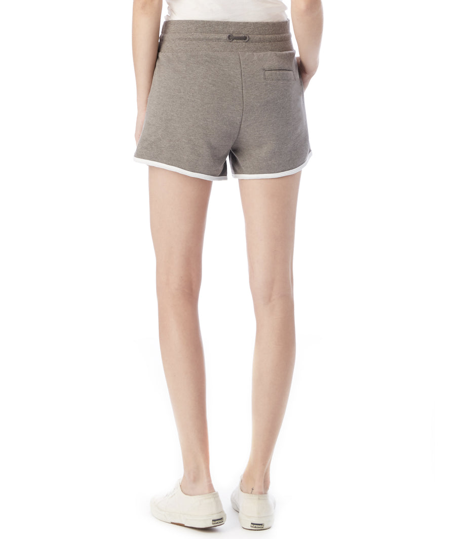Women's Grey French-Terry Classic Drawstring Shorts