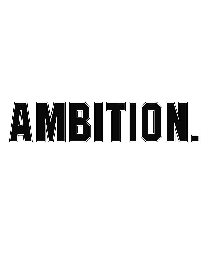 AMBITION Womens White/Black Jersey Tee