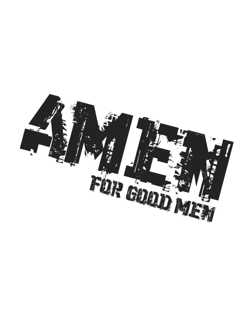 AMEN FOR GOOD MEN Unisex Grey Unisex Short Sleeve Tee