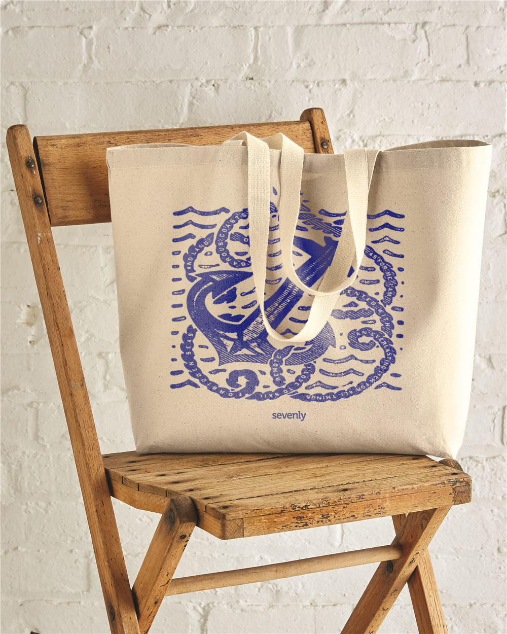 Anchor Rope Jumbo Cotton Canvas Tote Bag