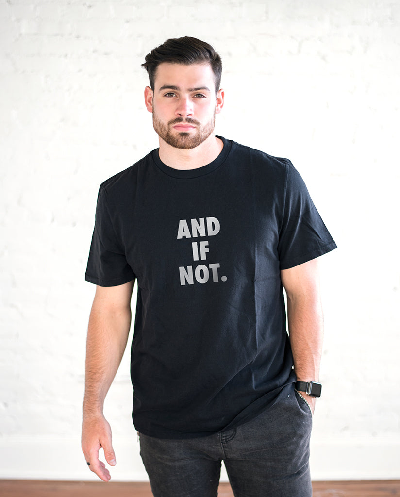 AND IF NOT Unisex Black Vintage Tee