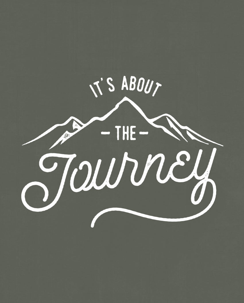 Its About The Journey Triblend Short Sleeve Tee