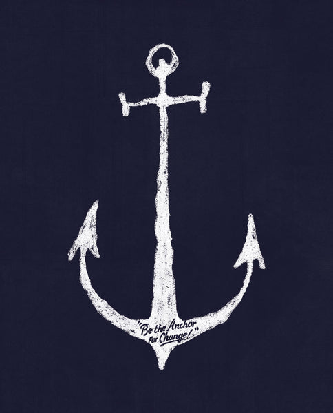 Anchor For Change Flowy Racerback Tank