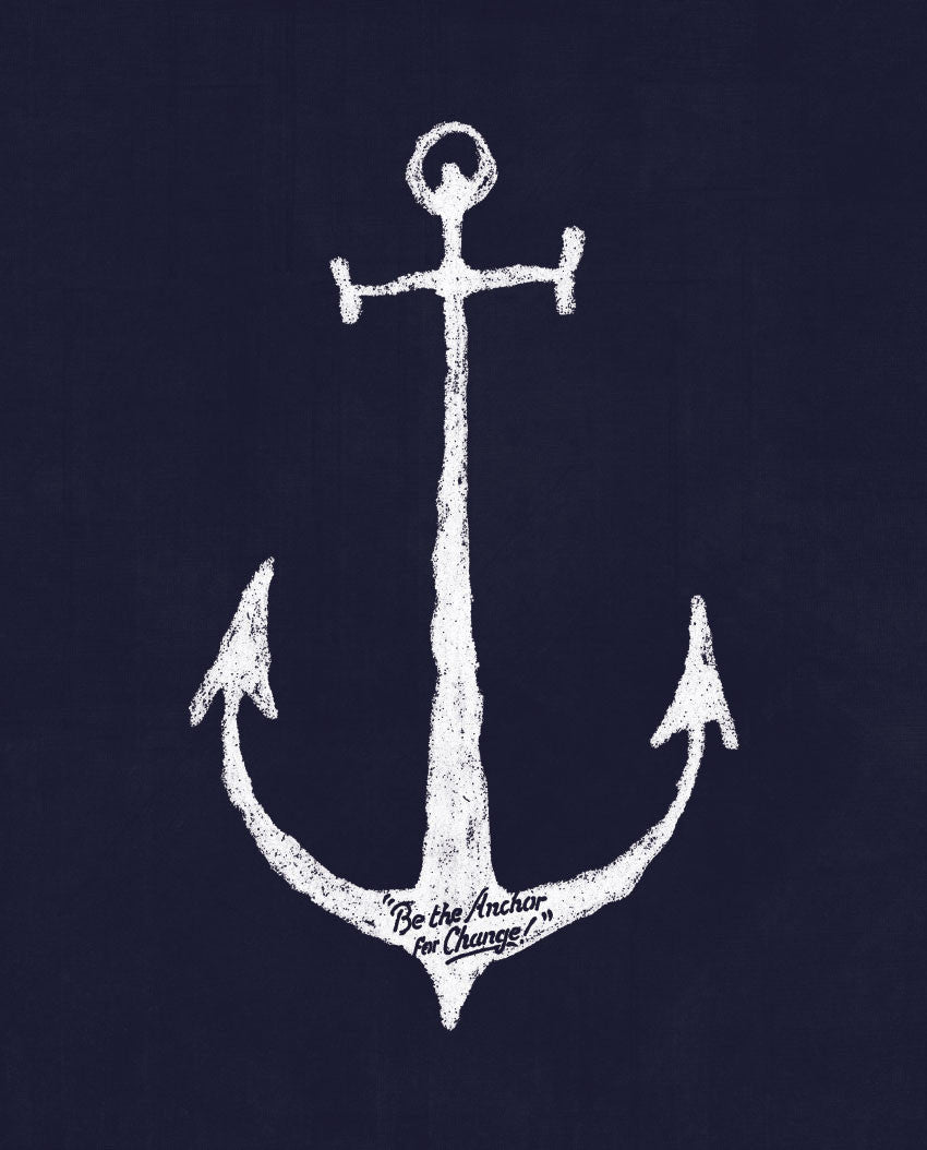Anchor For Change Flowy V Neck