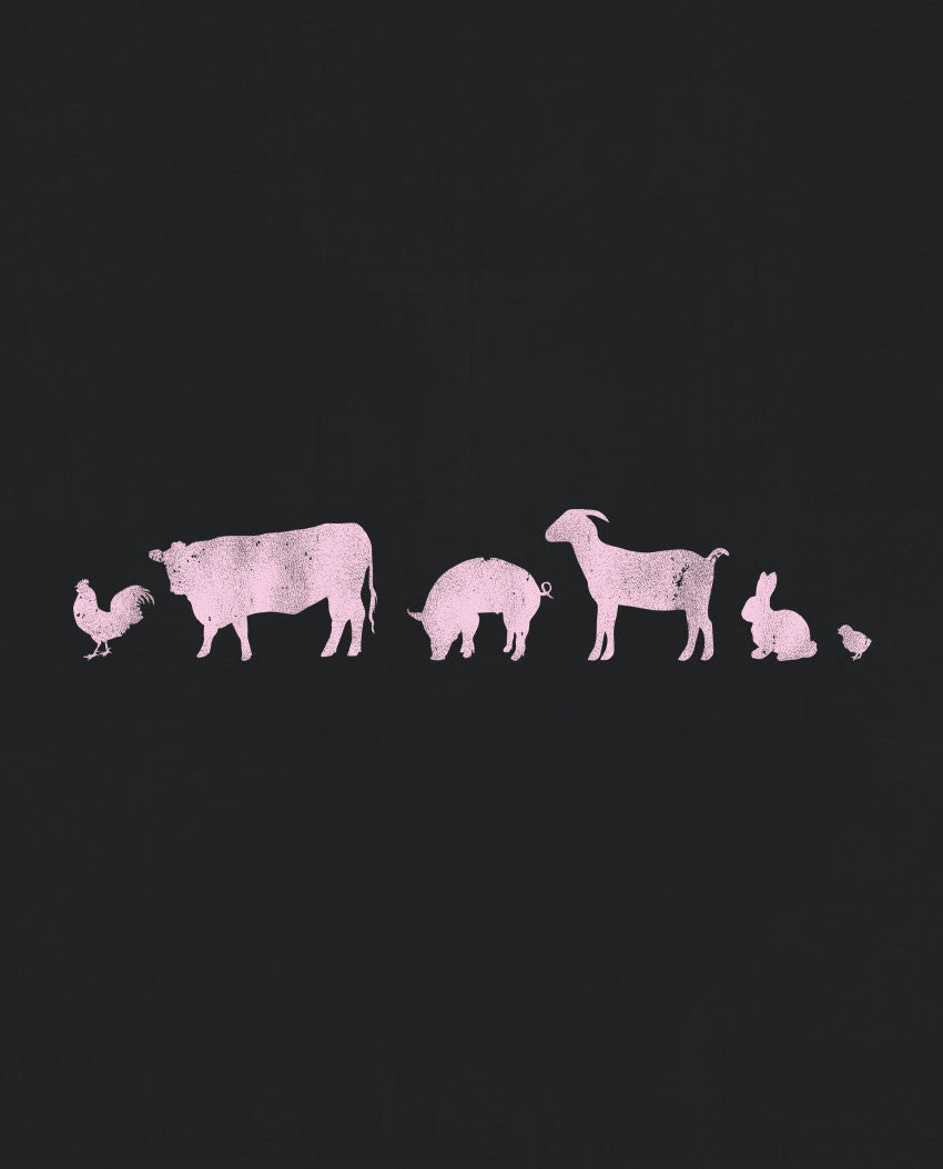 Barn Animals Triblend Short Sleeve Tee