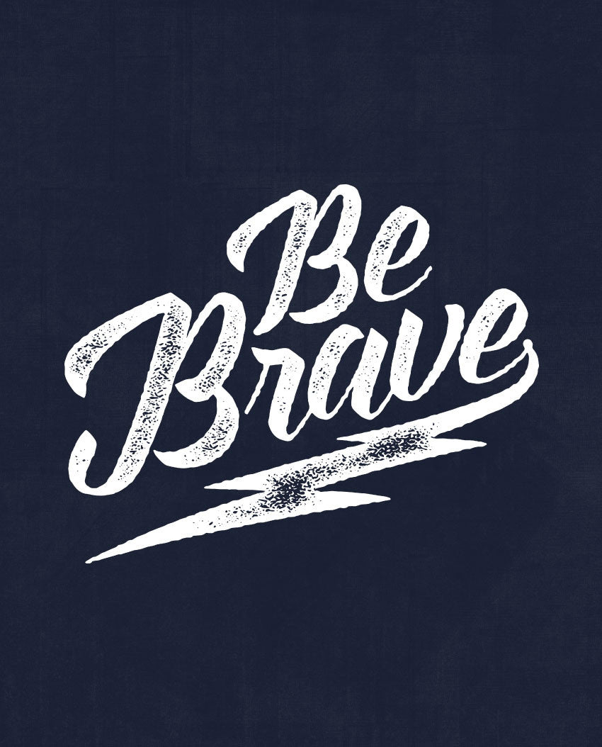 Be Brave Flowy V Neck