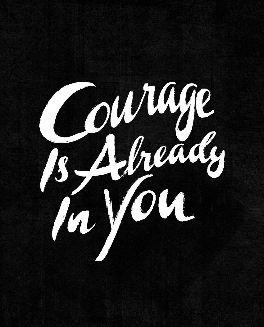 Courage Is Already In You Fitted Racerback Tank