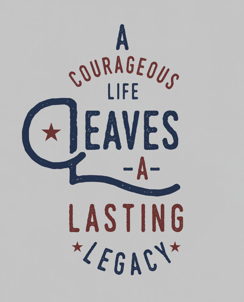 A Courageous Life Fitted Racerback Tank
