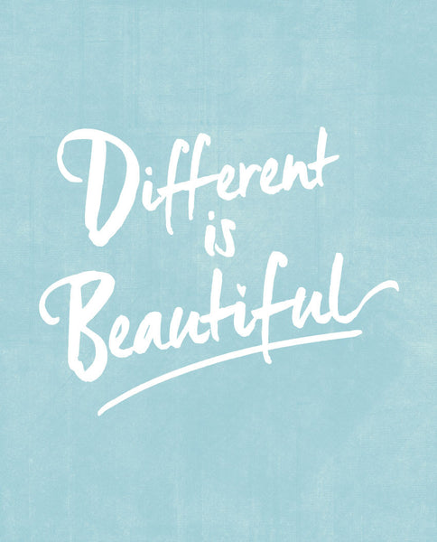 Different Is Beautiful Triblend Short Sleeve Tee