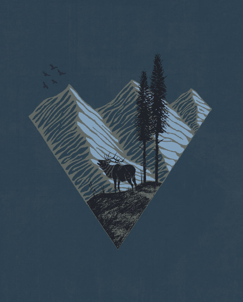 Elk Mountain Triblend Short Sleeve Tee