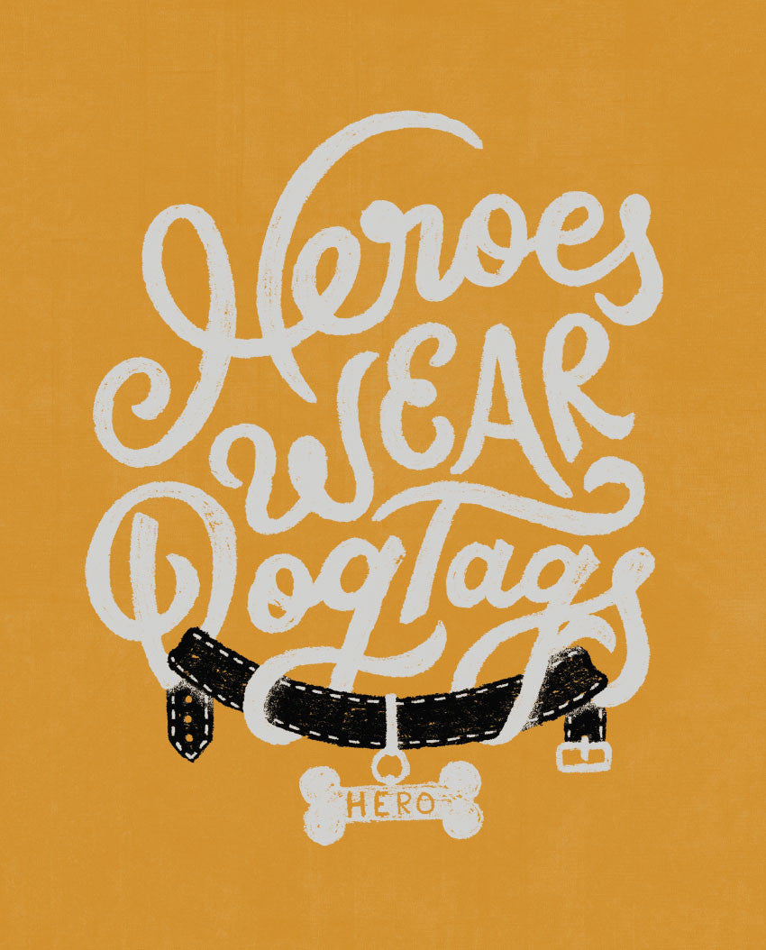 Heroes Wear Dogtags Fitted Tee