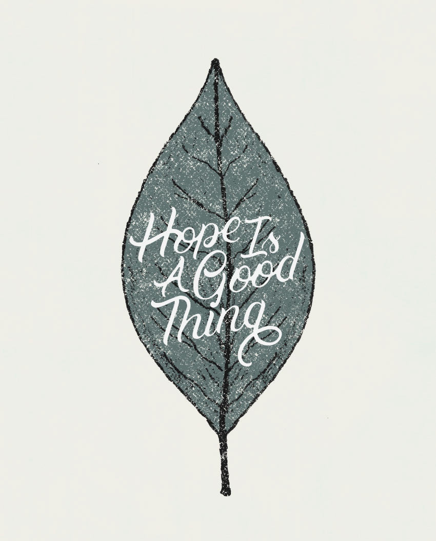 Hope Is A Good Thing Triblend Racerback Tank