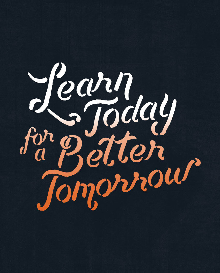 Learn Today For A Better Tomorrow Fitted Racerback Tank
