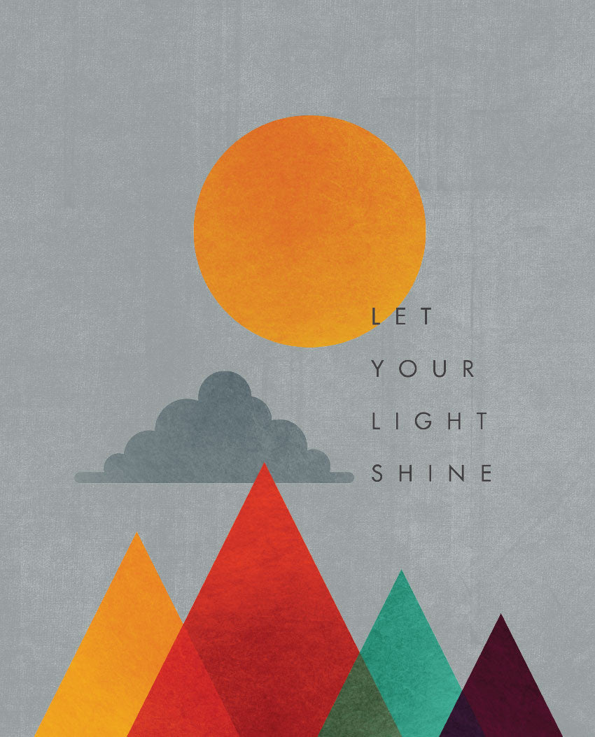 Let Your Light Shine Triblend Short Sleeve Tee