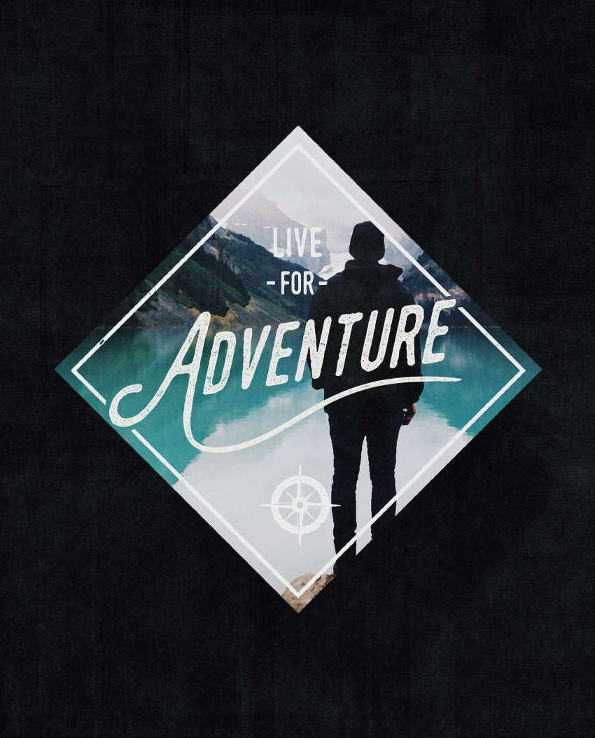 Live For Adventure Triblend Short Sleeve Tee