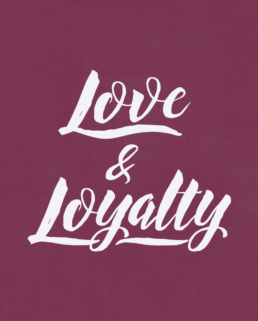 Love and Loyalty Fitted Racerback Tank