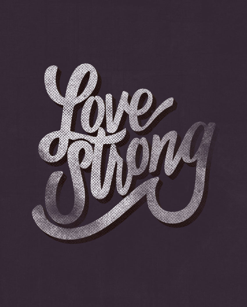 Love Strong Triblend Short Sleeve Tee