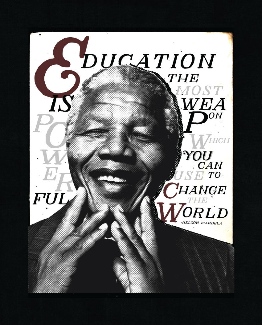 Education Is Mandela Unisex Baseball Tee