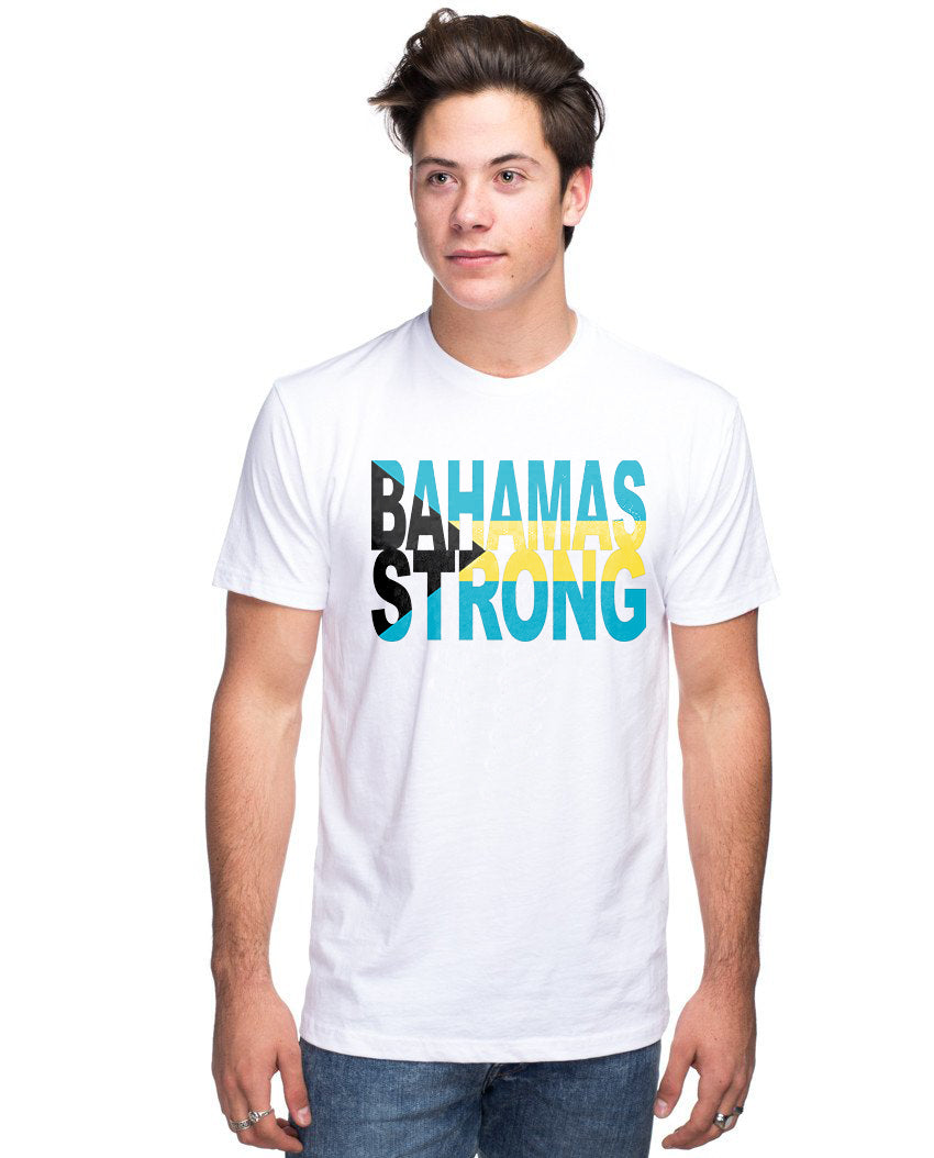 Bahamas Strong Flag Unisex Triblend Short Sleeve Tee