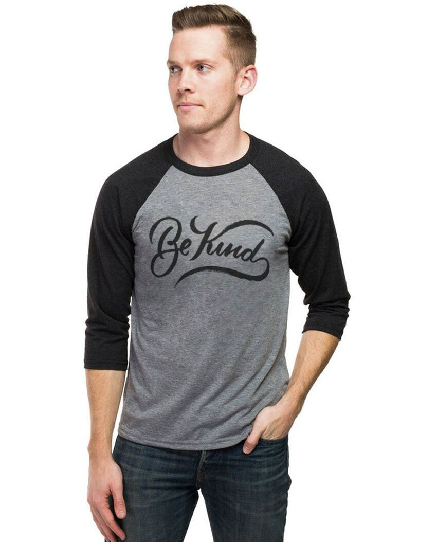 Be Kind Mens Baseball Tee