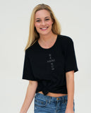 BE HERE NOW Unisex Black Triblend Short Sleeve Tee