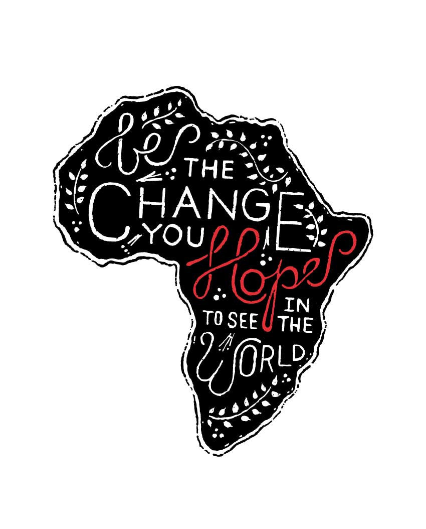 Be The Change Africa Flowy V Neck