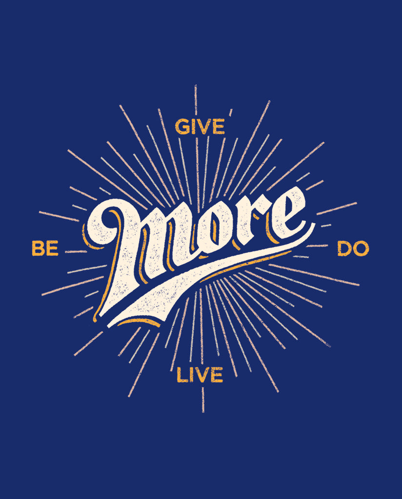 BE MORE GIVE MORE DO MORE LIVE MORE Womens Black Cotton Modal T-Shirt