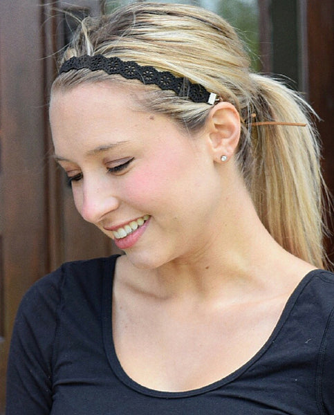 BLACK CHOKER HEADBAND by Headbands of Hope