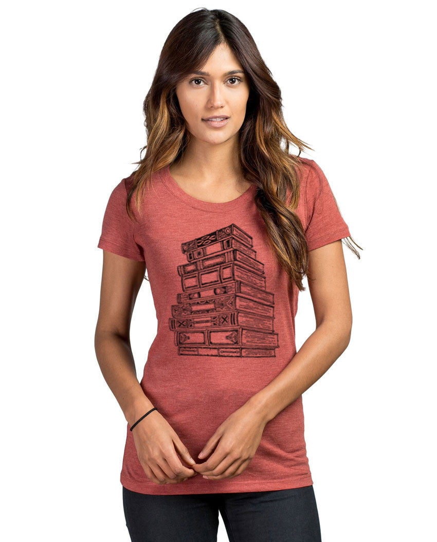 Books Triblend Short Sleeve Tee