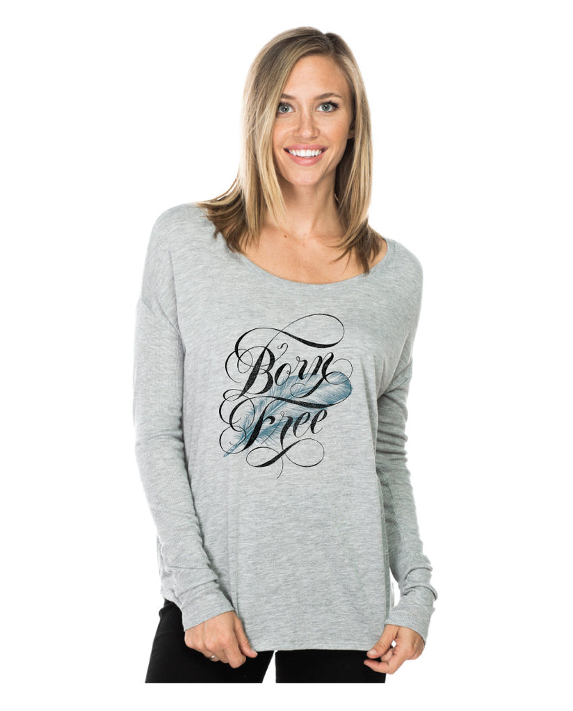 Born Free Flowy Long Sleeve Tee