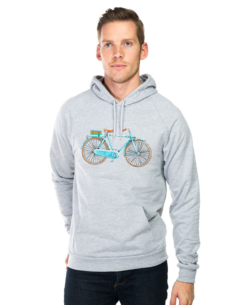 Boy Bicycle Unisex Hoodie