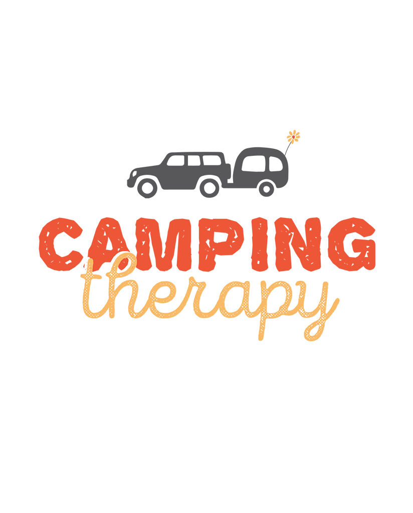 Camping Therapy Trailer Womens Muscle Tank